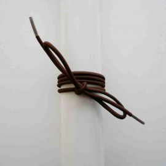 Schuhband Gummi dünn, rund, 65 cm, braun
