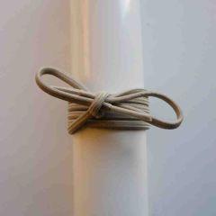 Schnürsenkel/Schuhband Gummi dünn, rund, 65 cm, hellbeige