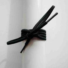 Schnürsenkel/Schuhband Gummi dünn, rund, 65 cm, schwarz