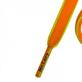 Mr Lacy 130 cm bright orange / neon yellow, oval, Slimmies