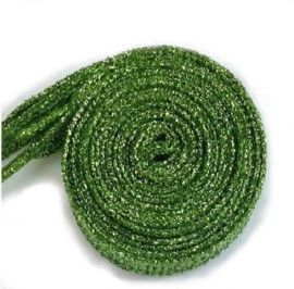 Glitter Shoe Laces 110 cm, green
