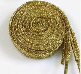 Glitter Shoe Laces 110 cm, gold