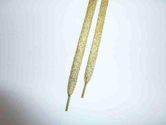 Glitzer Schuhbänder 110 cm, gold