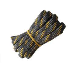 Schuhband halbrund 150 cm dunkelgrau/grau/gelb für Bergsport, Trekking, Outdoor