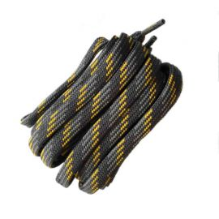 Schuhband halbrund 200 cm dunkelgrau/grau/gelb für Bergsport, Trekking, Outdoor
