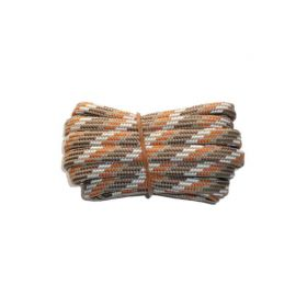 Shoelace semicircle 200 cm brown / light brown / orange / white for Mountaineering, Trekking, Outdoor
