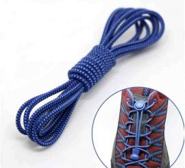 Elastic Locking Laces Darkblue-White