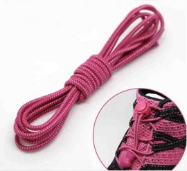 Elastic Locking Laces Pink-White