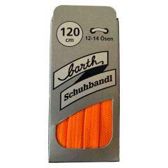 Sneaker Schnürsenkel, Farbe: Neon Orange, flach, 120 cm