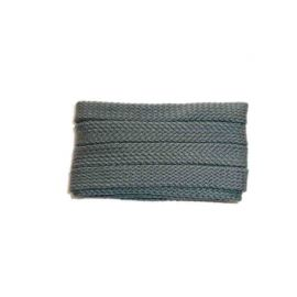 Shoelace sportive, 120 cm, grey, flat
